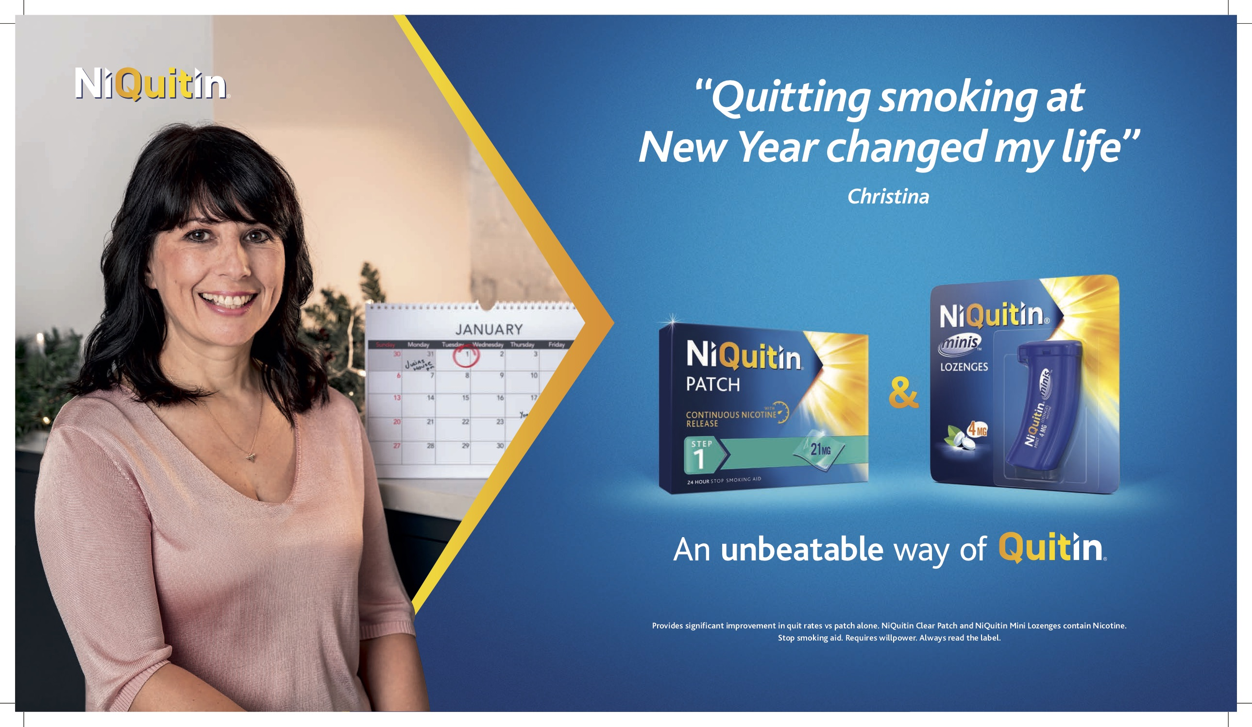 NiQuitin launches £1.3m New Year, New You campaign