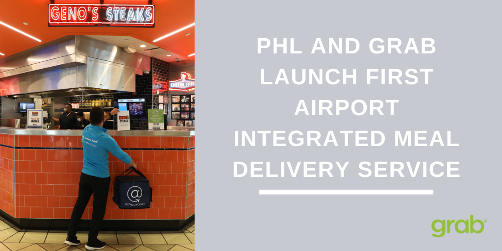 PHILADELPHIA INTERNATIONAL AIRPORT IS THE FIRST AIRPORT TO LAUNCH INTEGRATED MEAL DELIVERY SERVICE FOR PASSENGERS
