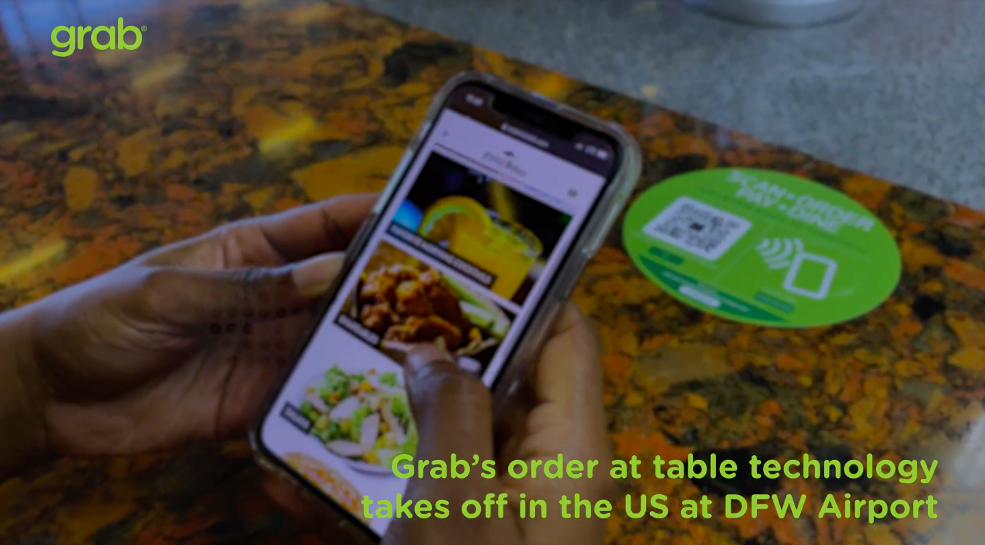 Grab's order at table technology takes off in the US at DFW